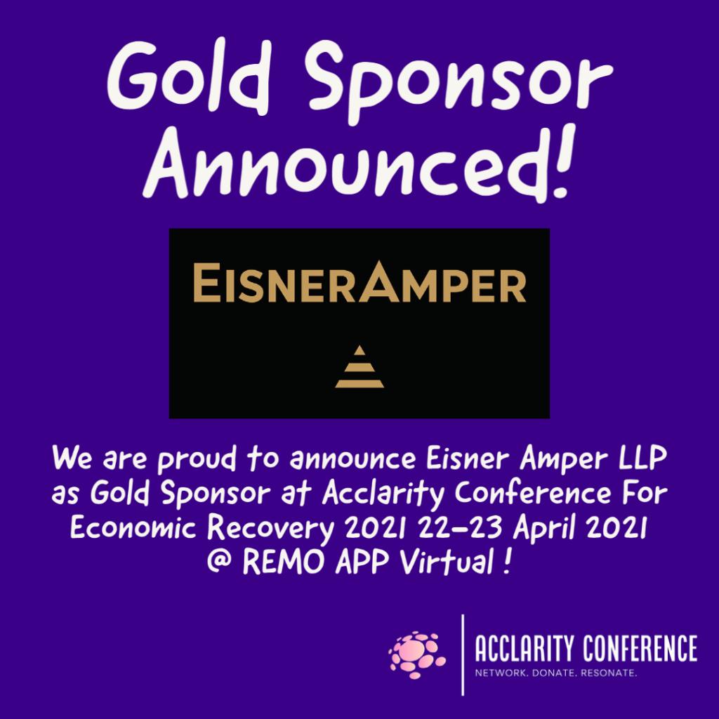 Gold Sponsor Announced: EisnerAmper